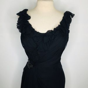 Black Vera wang Party/prom Dress sz 8